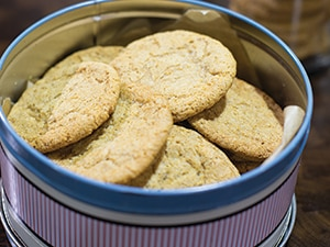 Low protein ginger biscuits
