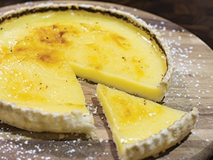 Low protein lemon tart