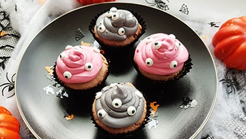 low protein halloween cupcake
