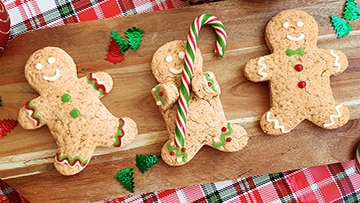 low protein gingerbread men