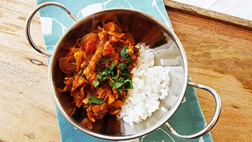 low protein jackfruit curry