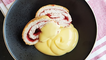 low protein jam roly poly