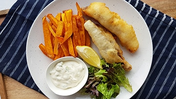 low protein fish and chips